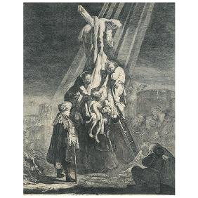 """After Rembrandt """"The Descent from the Cross, 1633"""""""