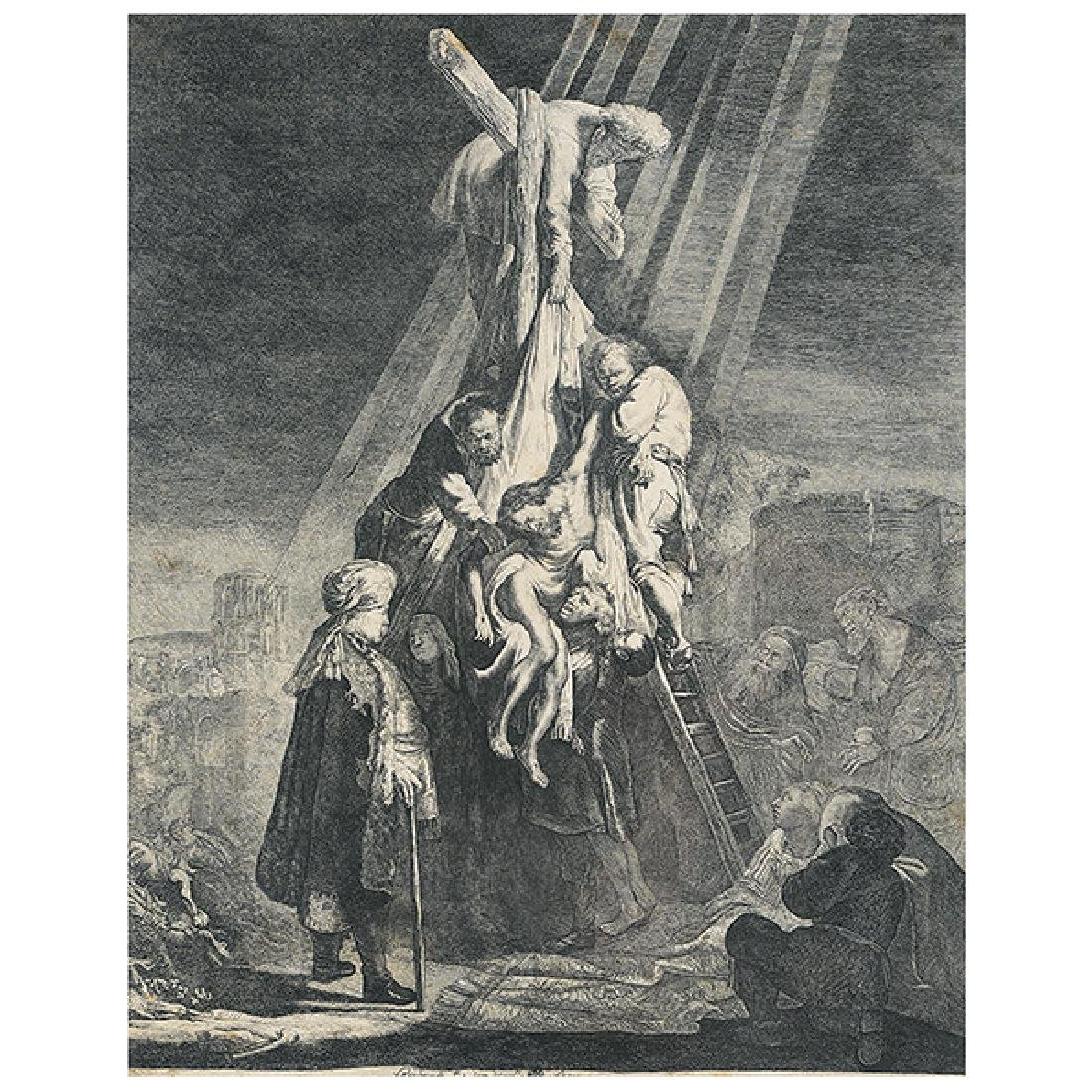 "After Rembrandt ""The Descent from the Cross, 1633"""
