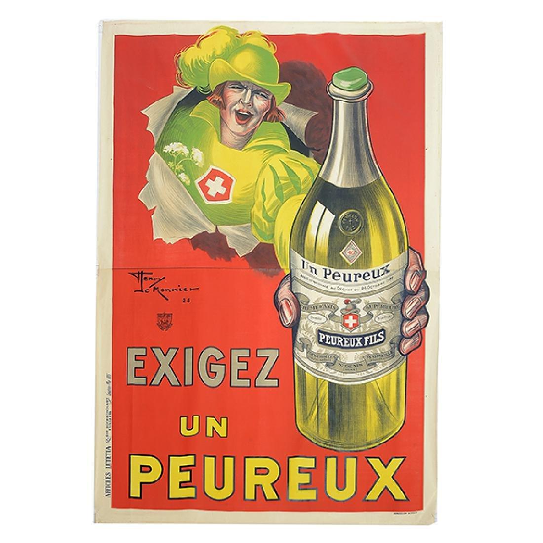 """Henry Le Monnier """"Un Peureux Fils"""" lithograph poster"""
