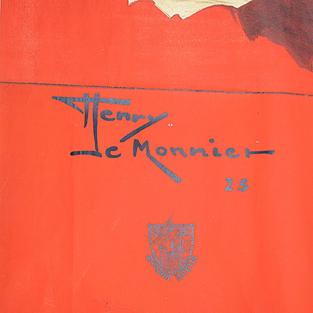 """Henry Le Monnier """"Un Peureux Fils"""" lithograph poster - 2"""