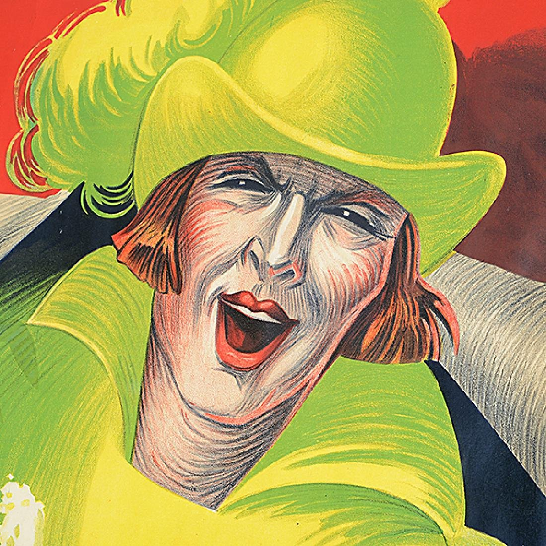 """Henry Le Monnier """"Un Peureux Fils"""" lithograph poster - 5"""