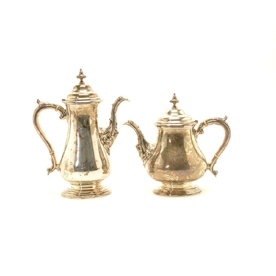 Shreve Sterling Five Piece Coffee and Tea Service - 2