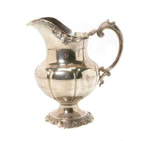 Wallace Grand Baroque Sterling Silver Water Pitcher