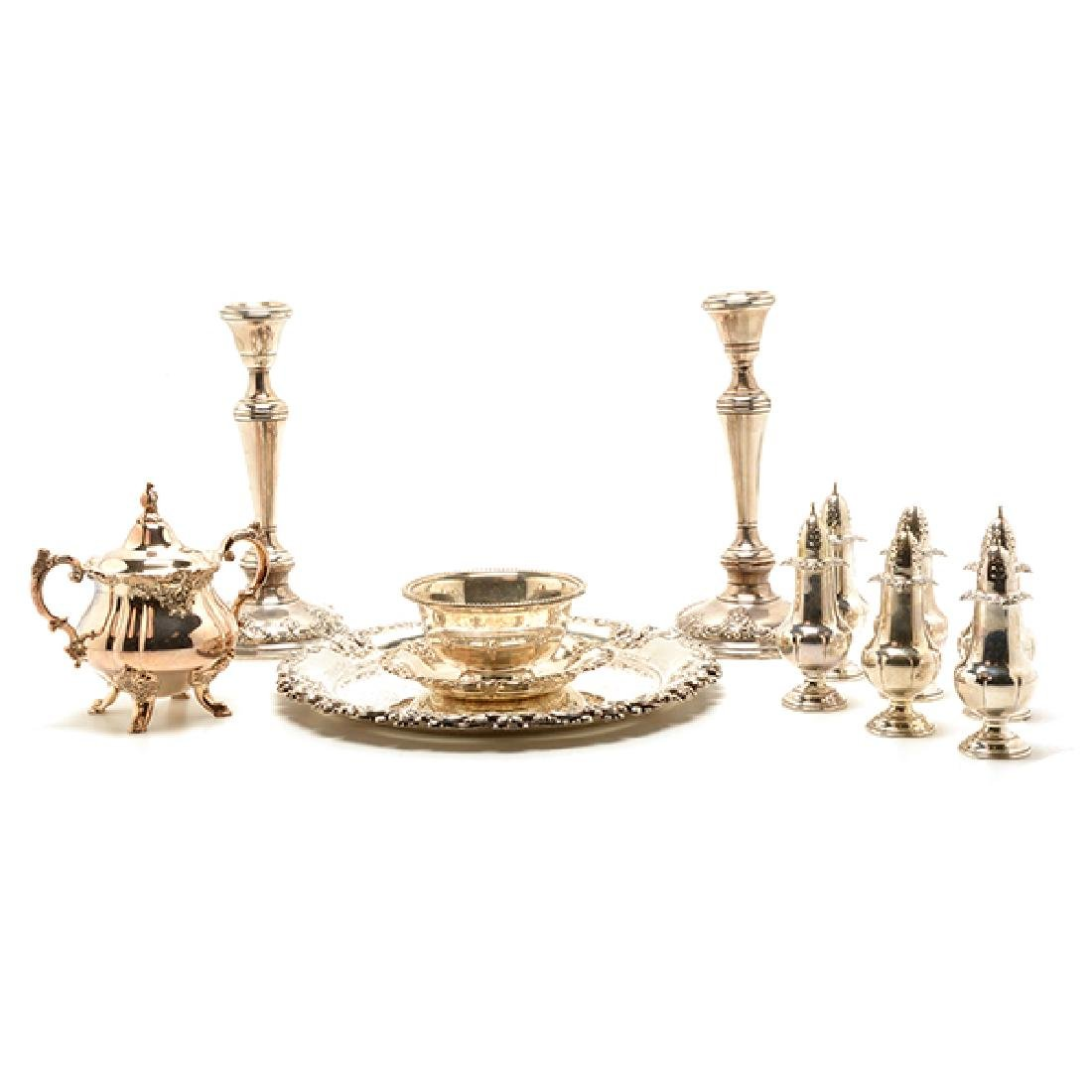 Collection of Wallace Grand Baroque Sterling Table