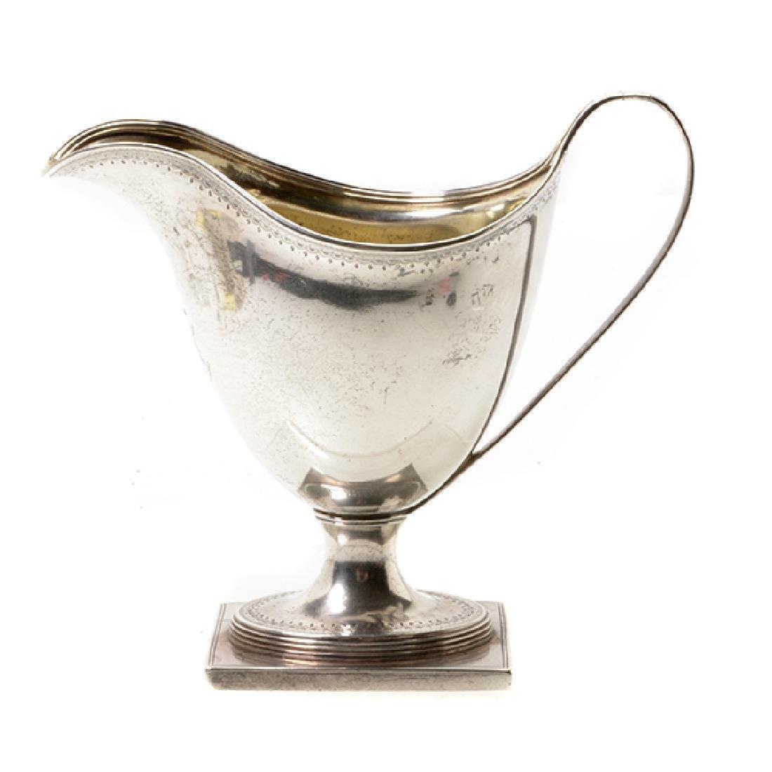 English George III Helmet Form Creamer, c. 1791