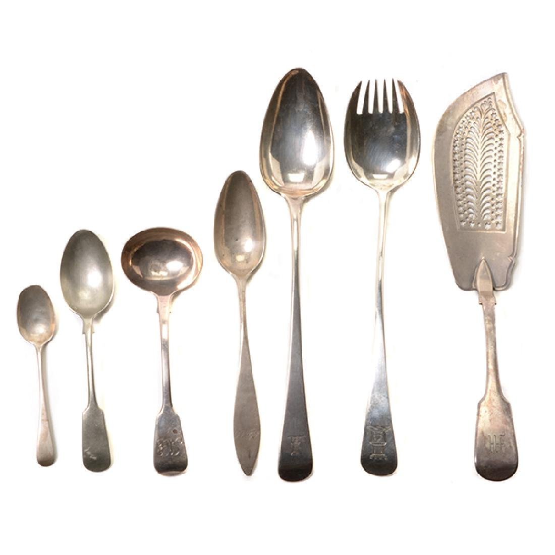 Collection of English Sterling Silver Flatware