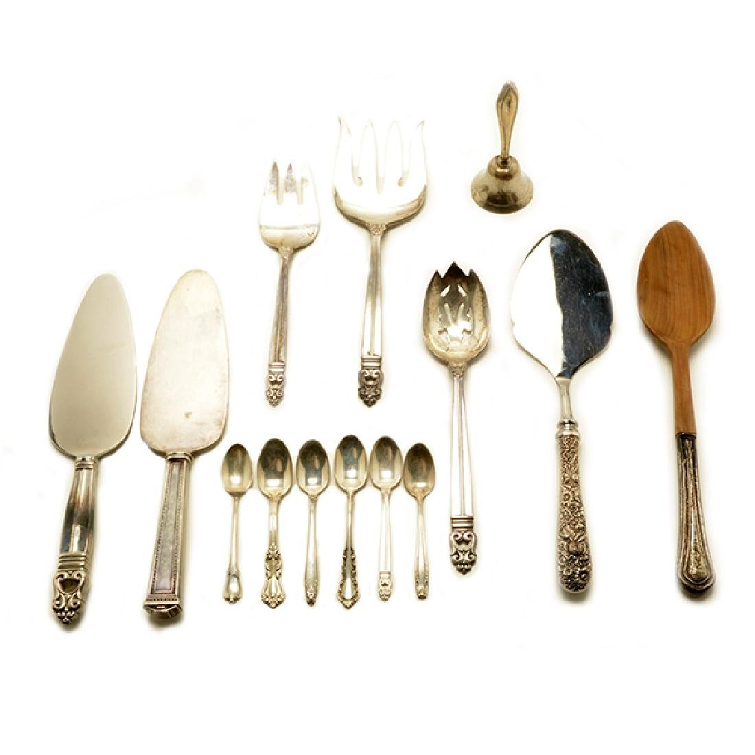 Collection of Assorted Sterling Flatware and Serving