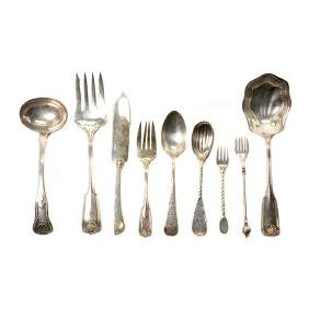 Collection of Assorted Sterling and Plated Flatware