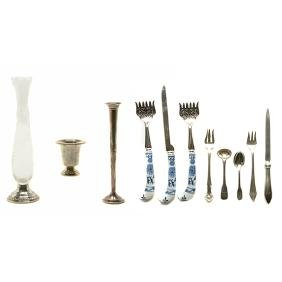 Collection of Sterling Table and Desk Articles
