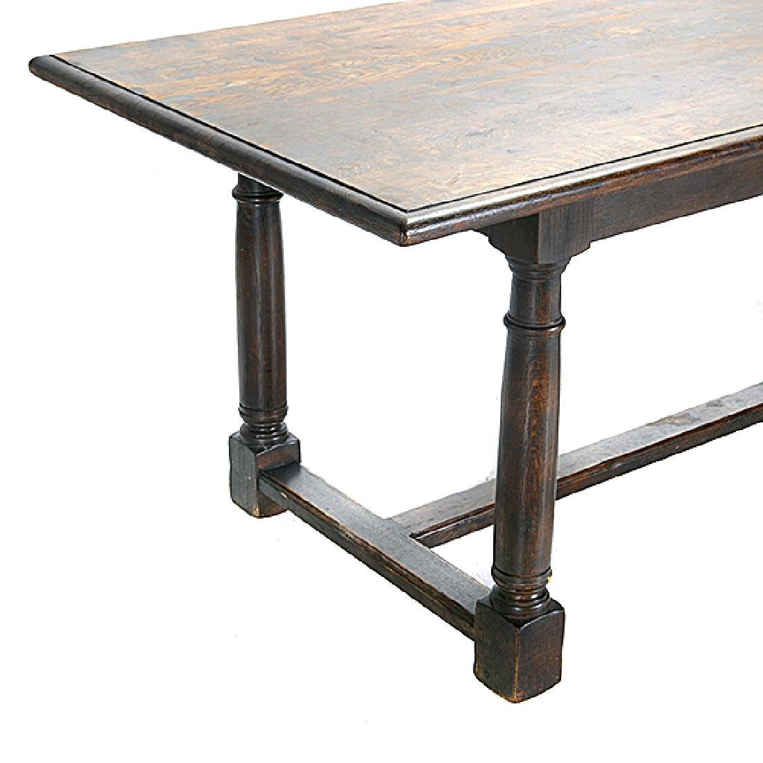 Italian Renaissance Revival Oak Trestle Table with - 2