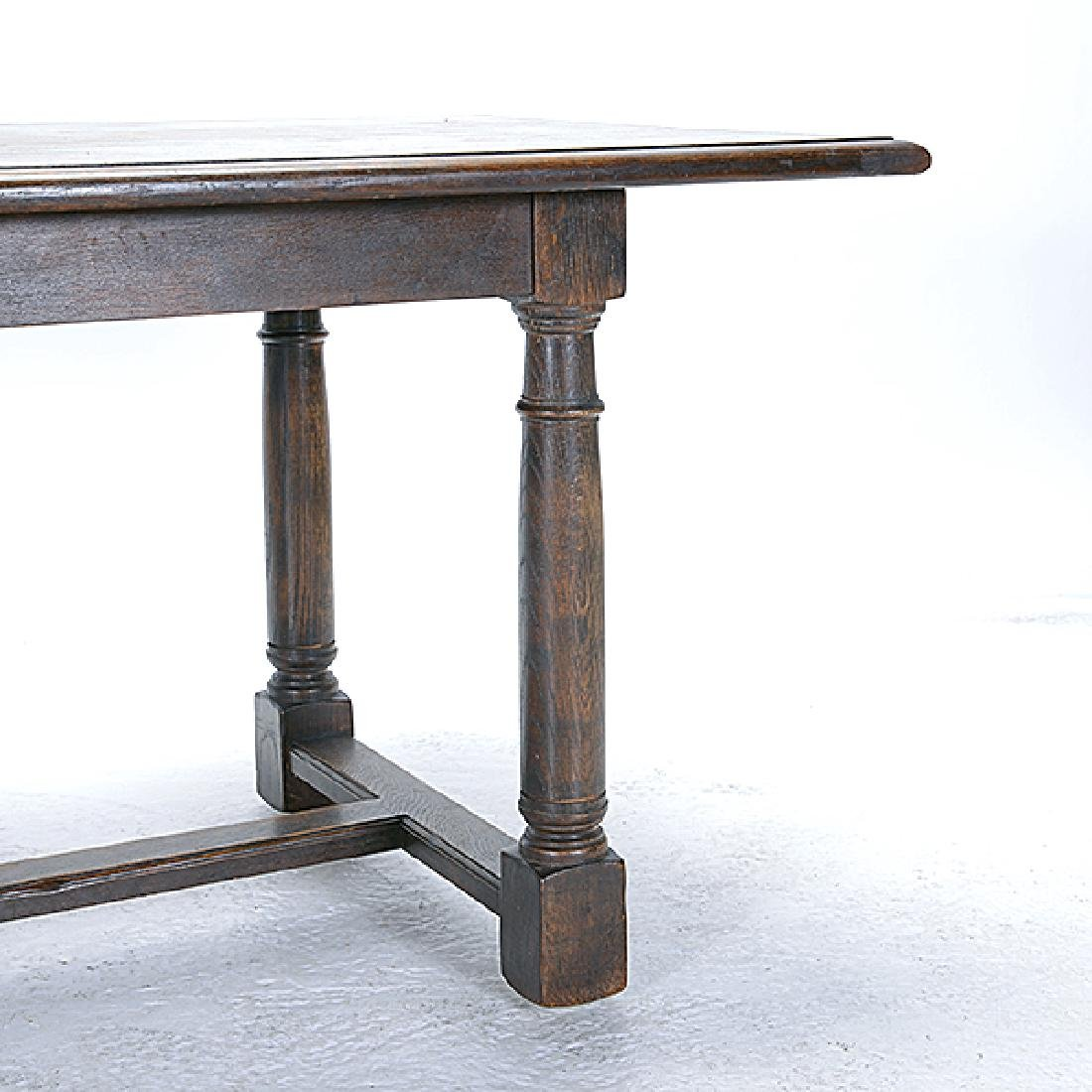 Italian Renaissance Revival Oak Trestle Table with - 3