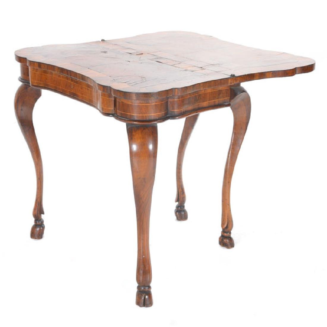 Italian Marquetry Games Table
