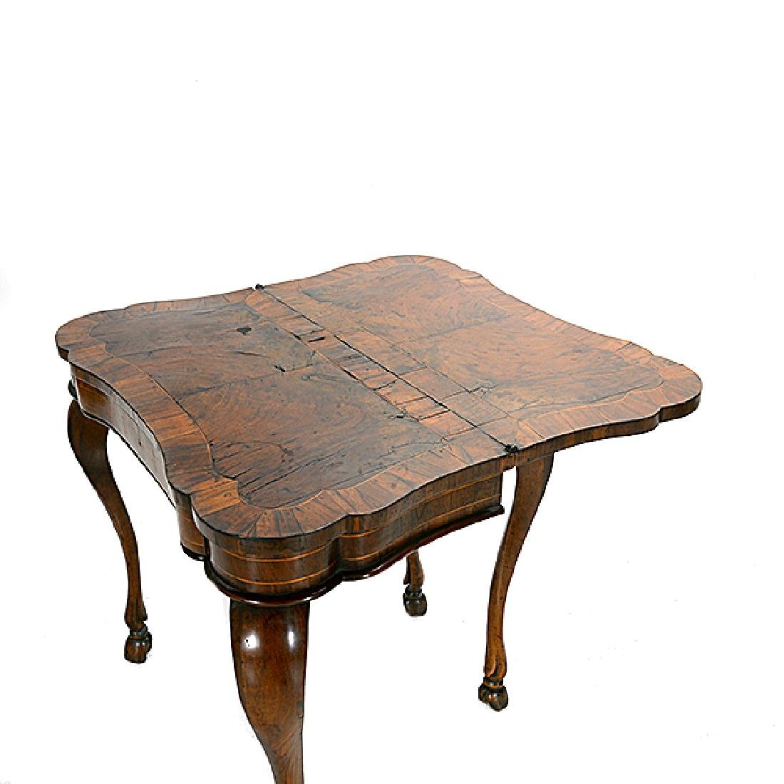 Italian Marquetry Games Table - 2