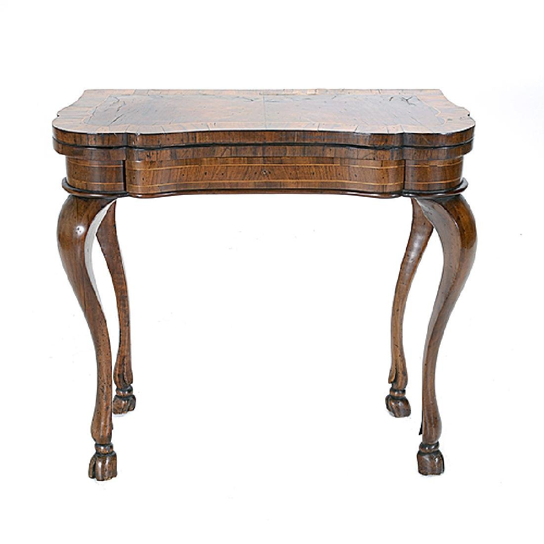 Italian Marquetry Games Table - 4