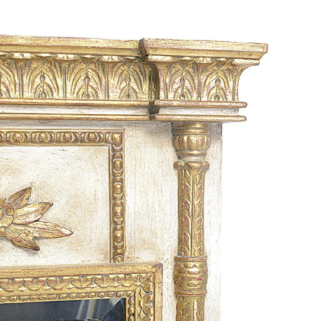 Italian White and Gilt Painted Beveled Pier Mirror - 3