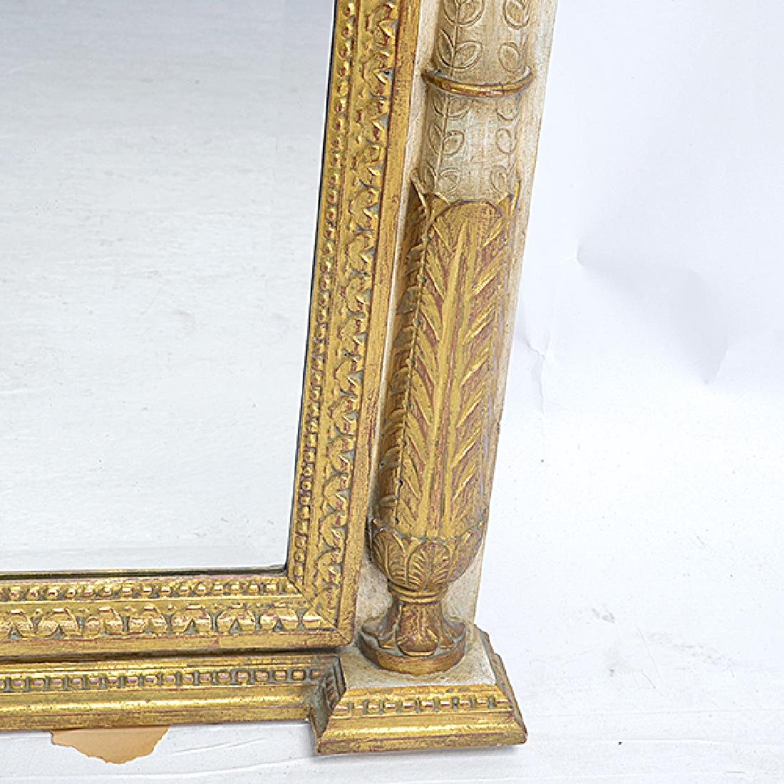 Italian White and Gilt Painted Beveled Pier Mirror - 4