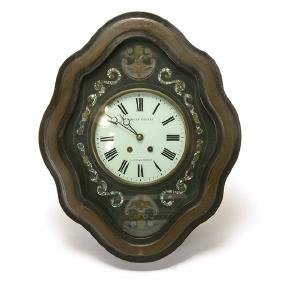 Napoleon III Ebonized and Shell Inlaid Cartel Clock