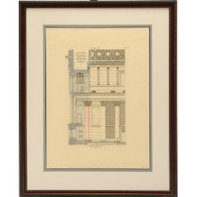 Pair of Architectural Drawings of the National City
