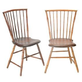 Pair of American Bird Cage Windsor Chairs