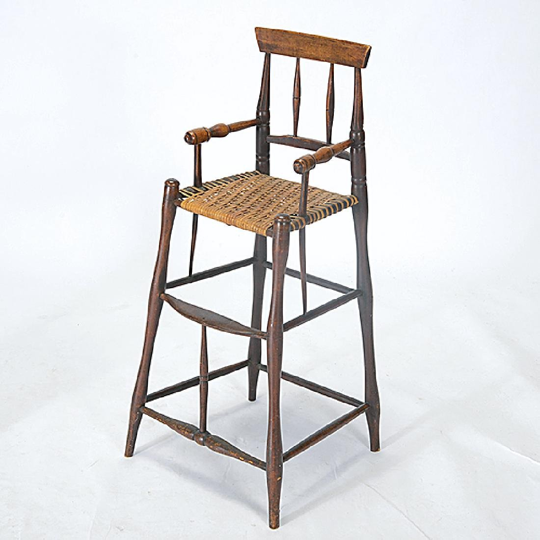 Two Connecticut Federal Painted Child's Highchair and - 2
