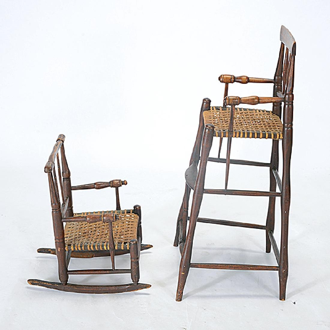 Two Connecticut Federal Painted Child's Highchair and - 4