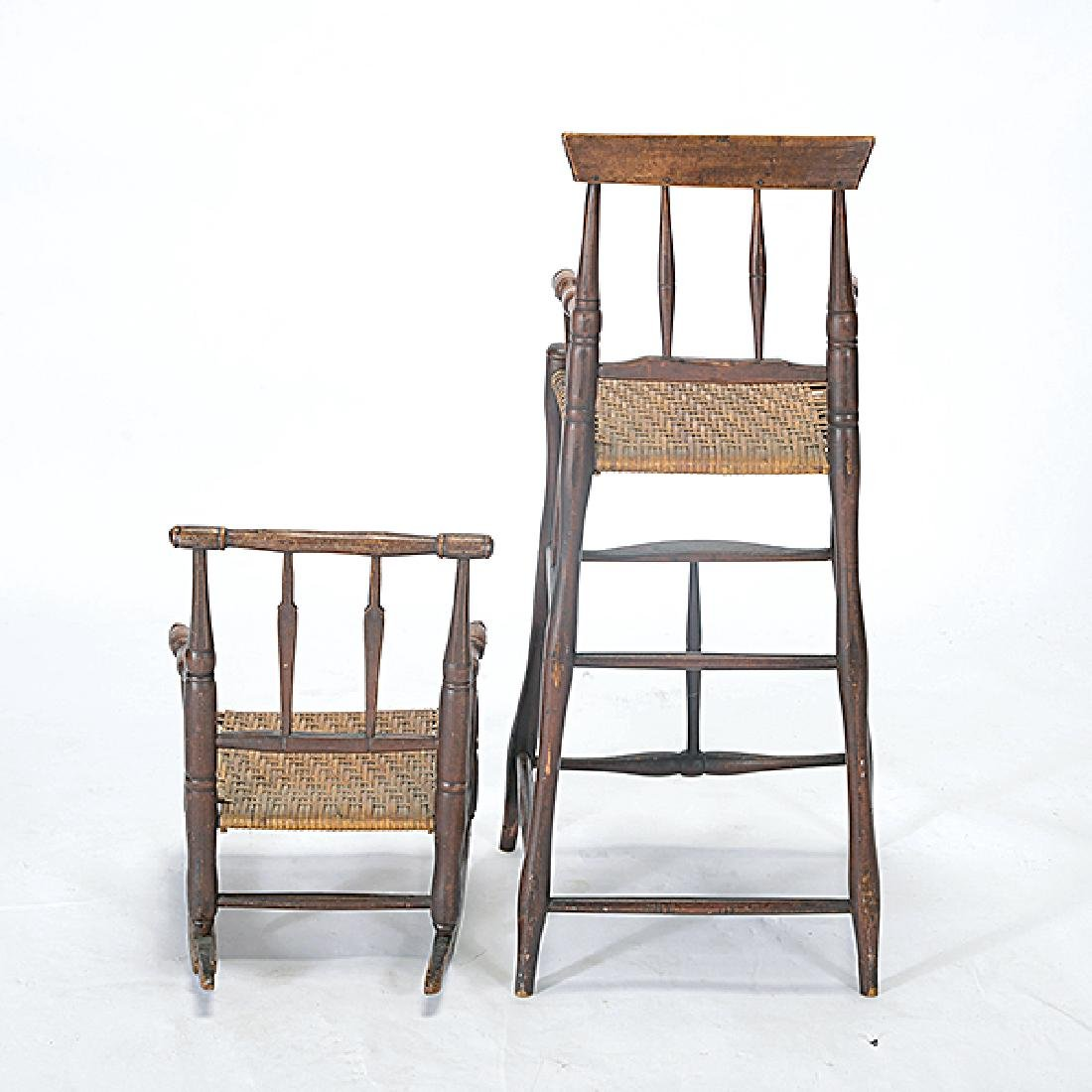 Two Connecticut Federal Painted Child's Highchair and - 5