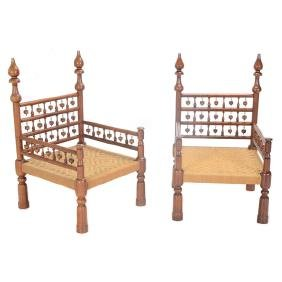 Pair of Islamic Style Armchairs