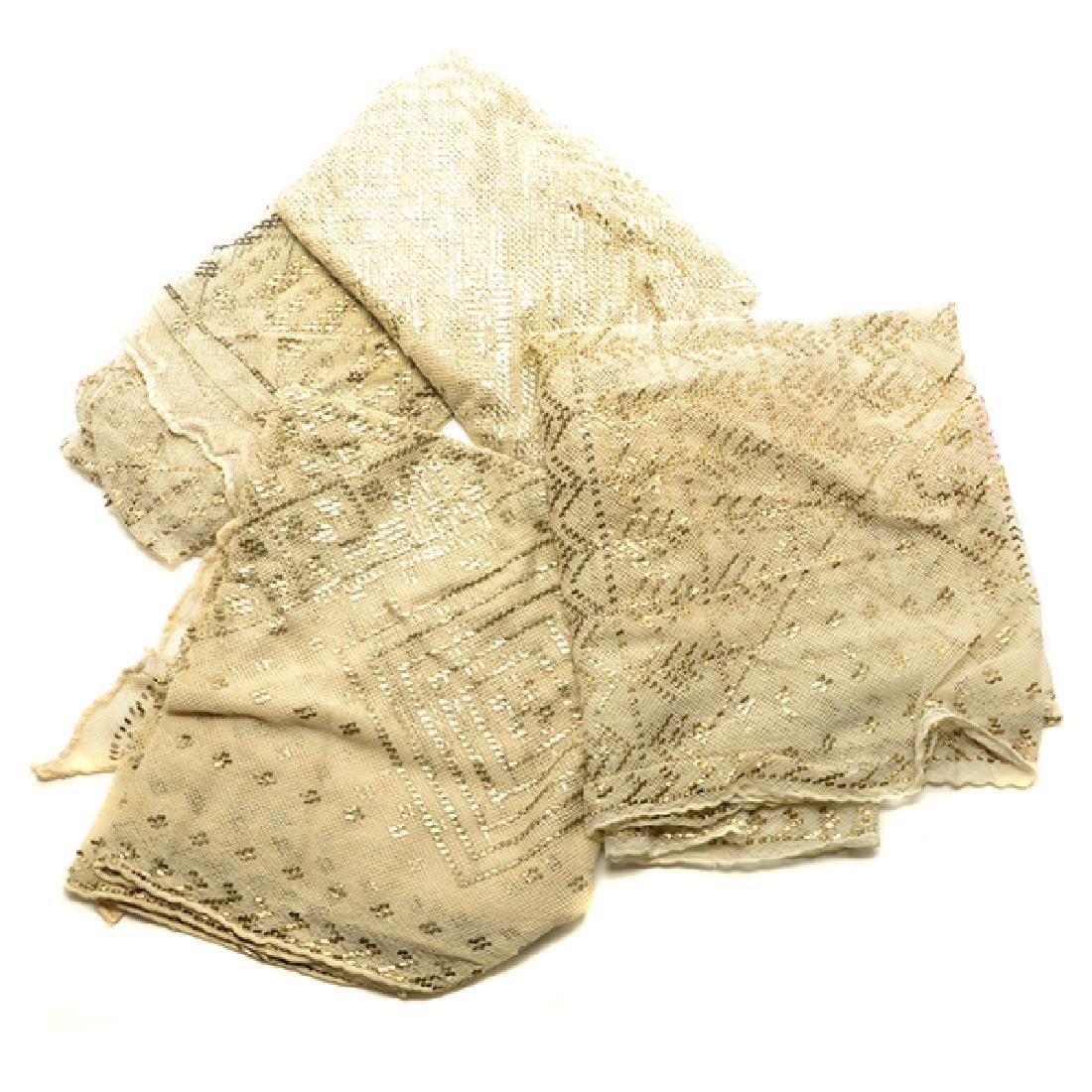Four Ivory Asyut Shawls