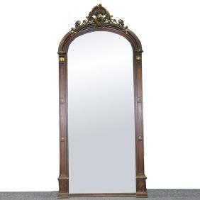 Massive Renaissance Revival Oak Pier Mirror