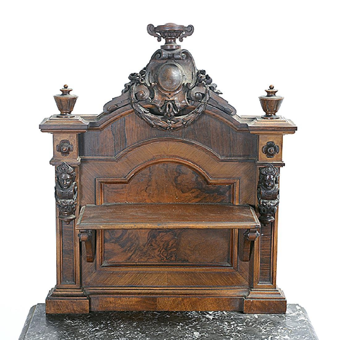 Pair of Rococo Revival Bedside Tables with Commode - 3