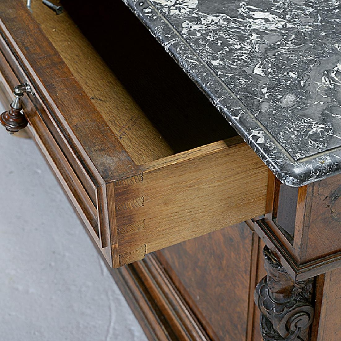 Pair of Rococo Revival Bedside Tables with Commode - 8