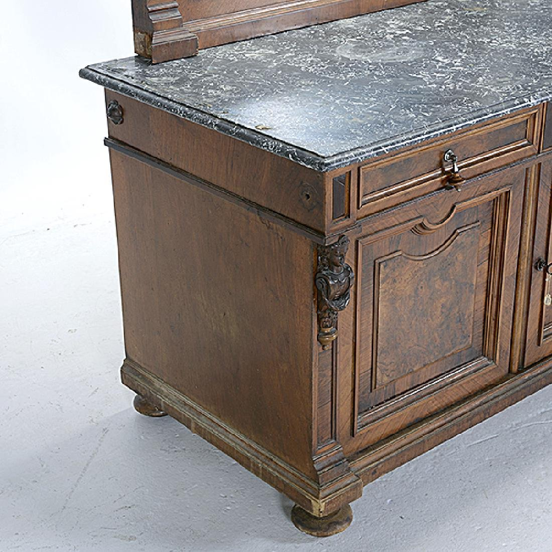 Pair of Rococo Revival Bedside Tables with Commode - 9