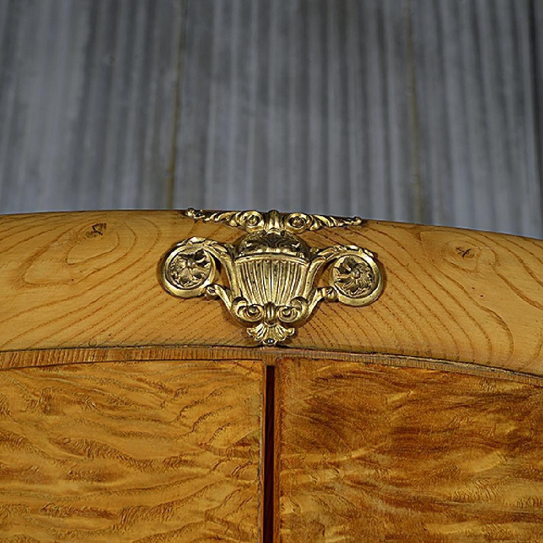 Art Deco Gilt Bronze Mounted Maple Armoire - 4