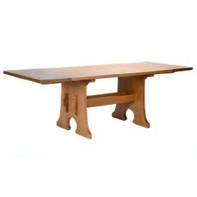 Stickley Oak Keyhole Refectory Table