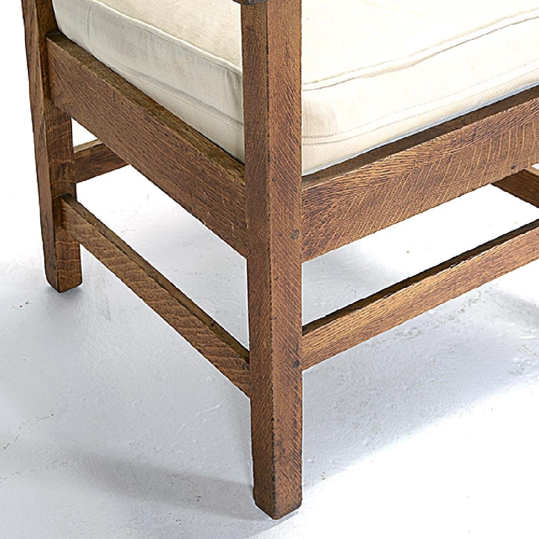 Pair of Stickley Bros. Mission Style Oak Armchairs - 6