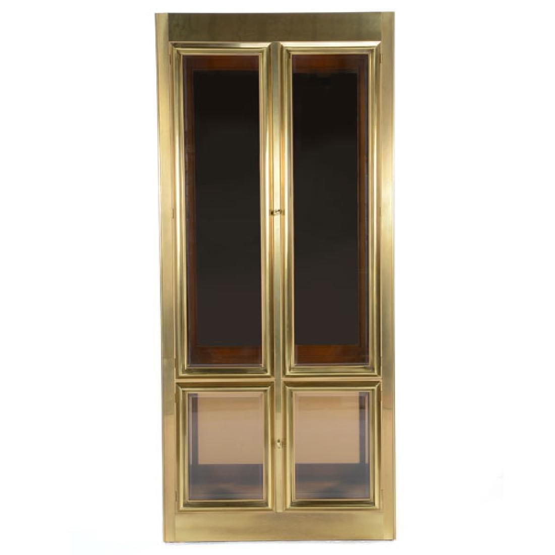 Mastercraft Gilt Brass China Cabinet