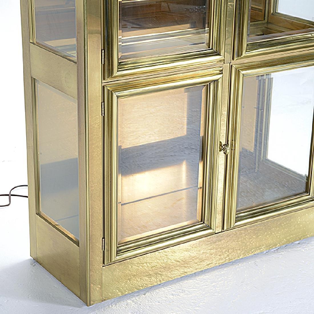 Mastercraft Gilt Brass China Cabinet - 2