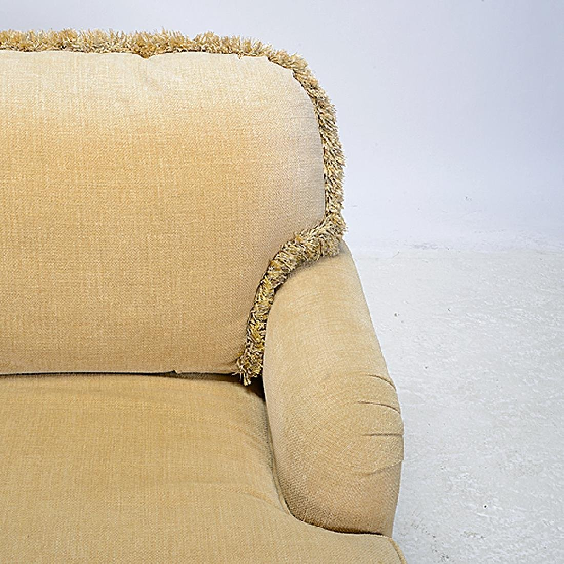 Pair of Gold Chenille Upholstered Marco Sofas - 3
