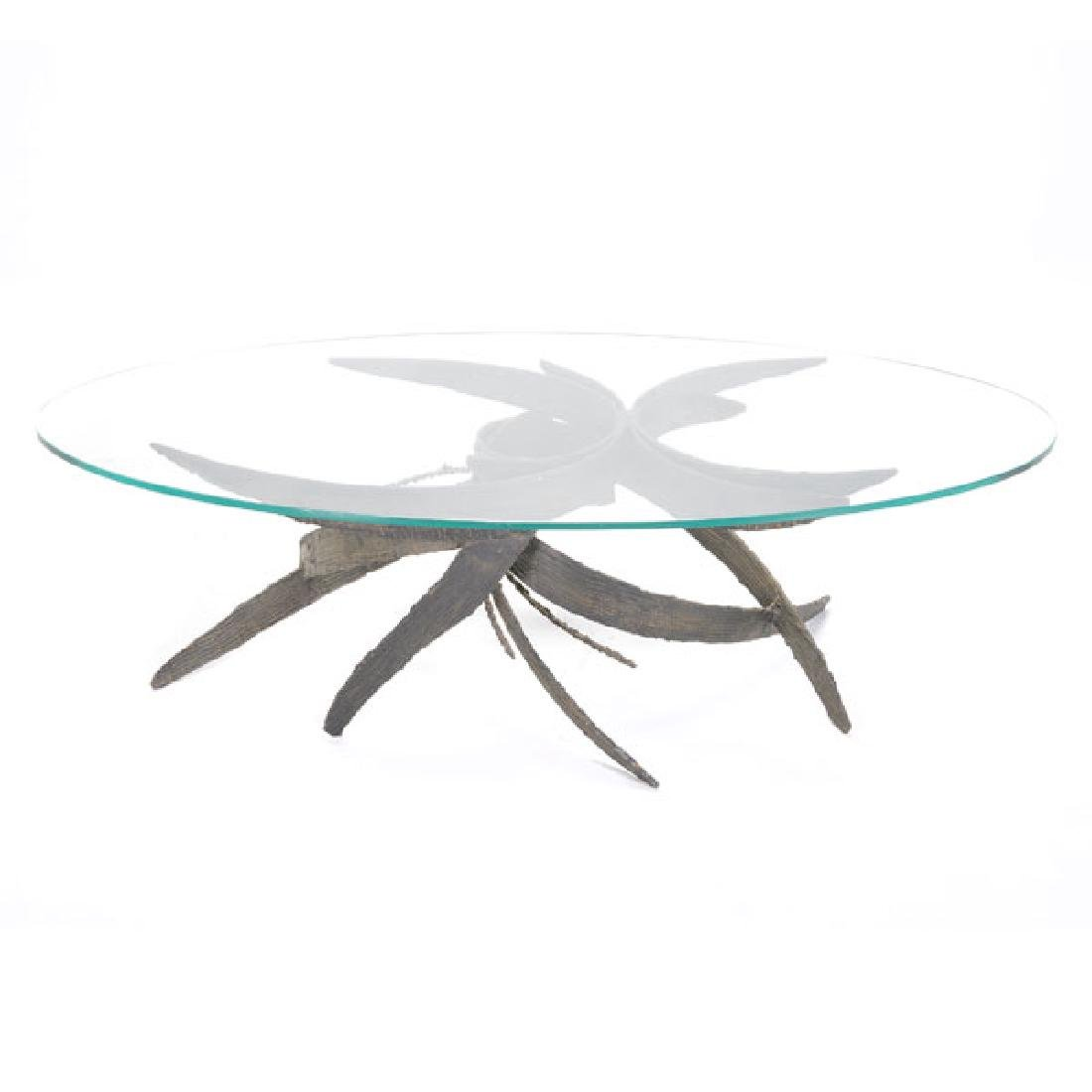 Silas Seandel Coffee Table with Sculptural Metal Base