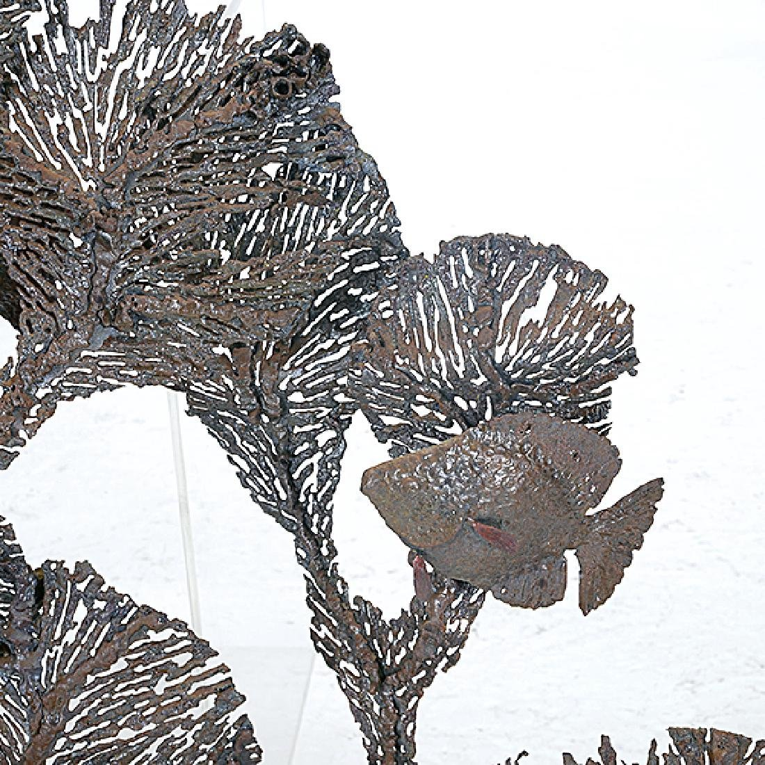 Curtis Jere Coral and Fish Metal Hanging Sculpture - 2