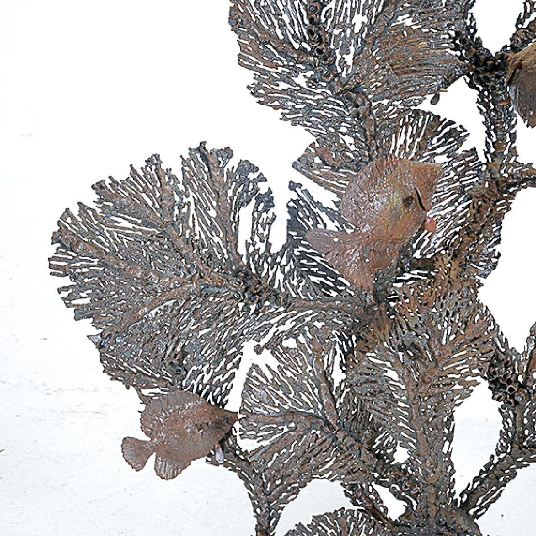 Curtis Jere Coral and Fish Metal Hanging Sculpture - 3