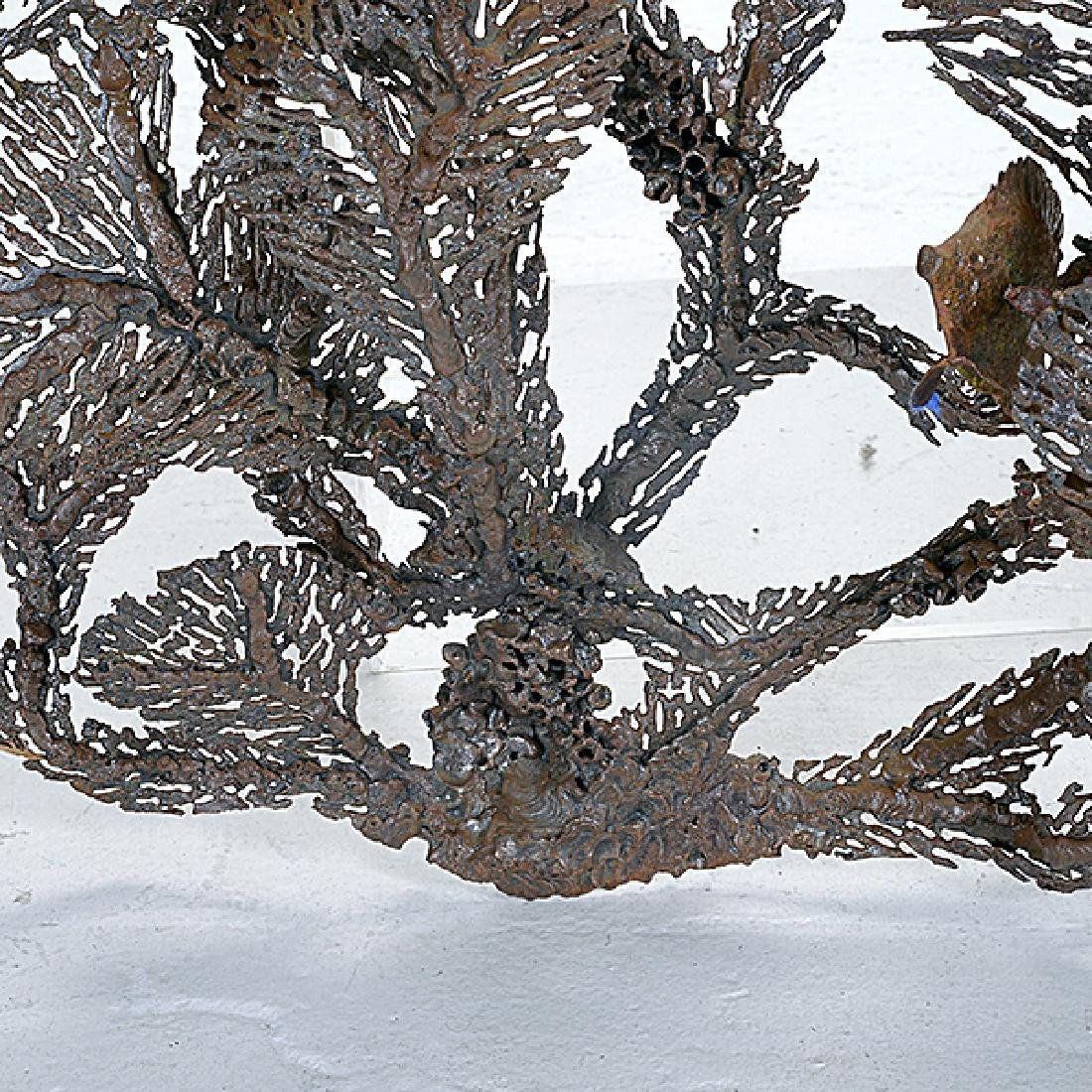 Curtis Jere Coral and Fish Metal Hanging Sculpture - 4