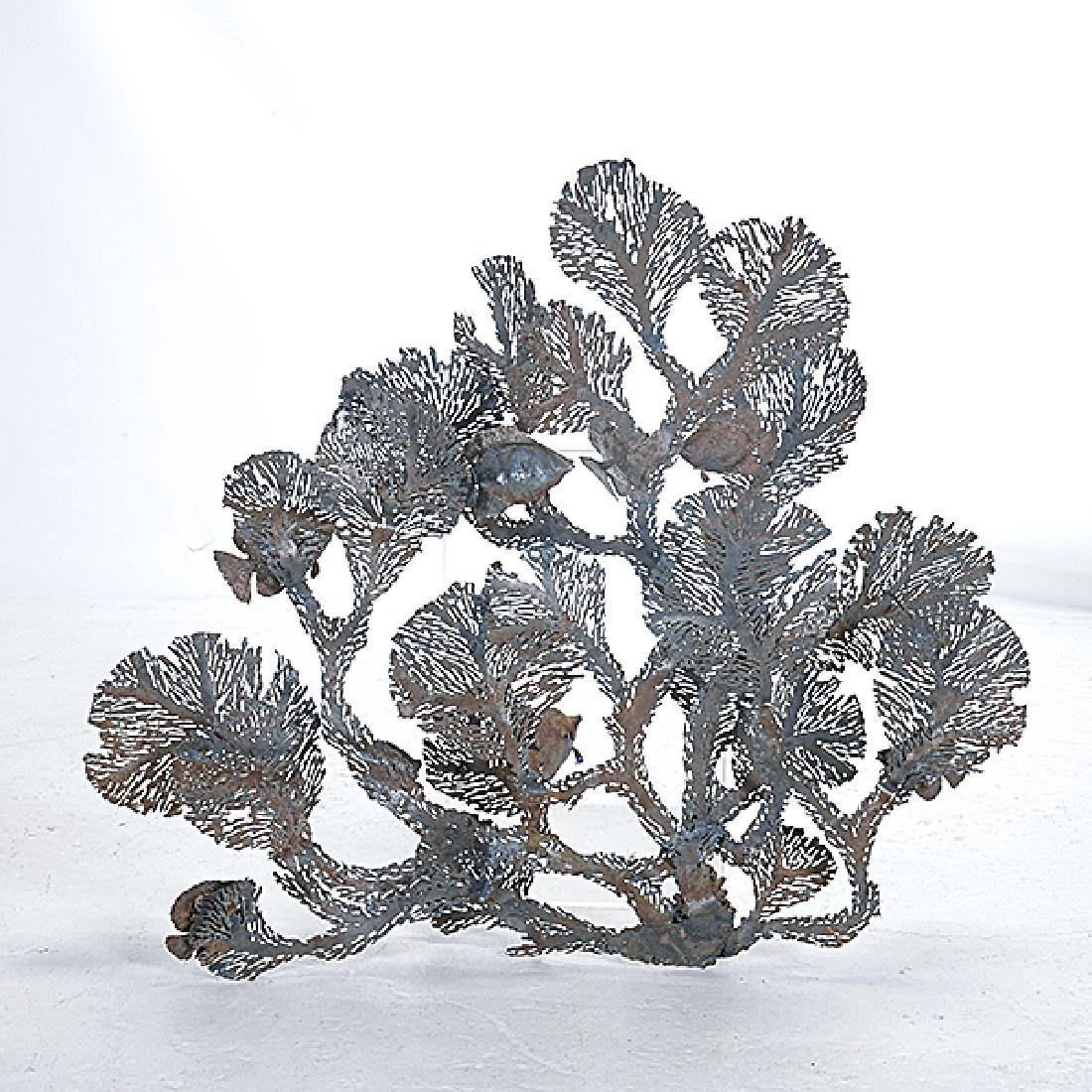 Curtis Jere Coral and Fish Metal Hanging Sculpture - 5