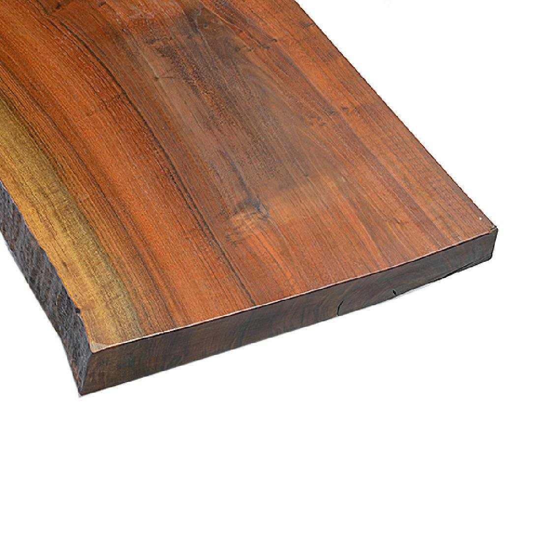 Carneros Studios Live Edge Low Plank Wood Coffee Table - 2