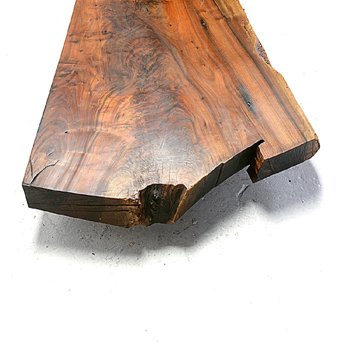 Carneros Studios Live Edge Low Plank Wood Coffee Table - 4