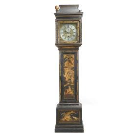 George III Chinoiserie Lacquered Longcase Clock,