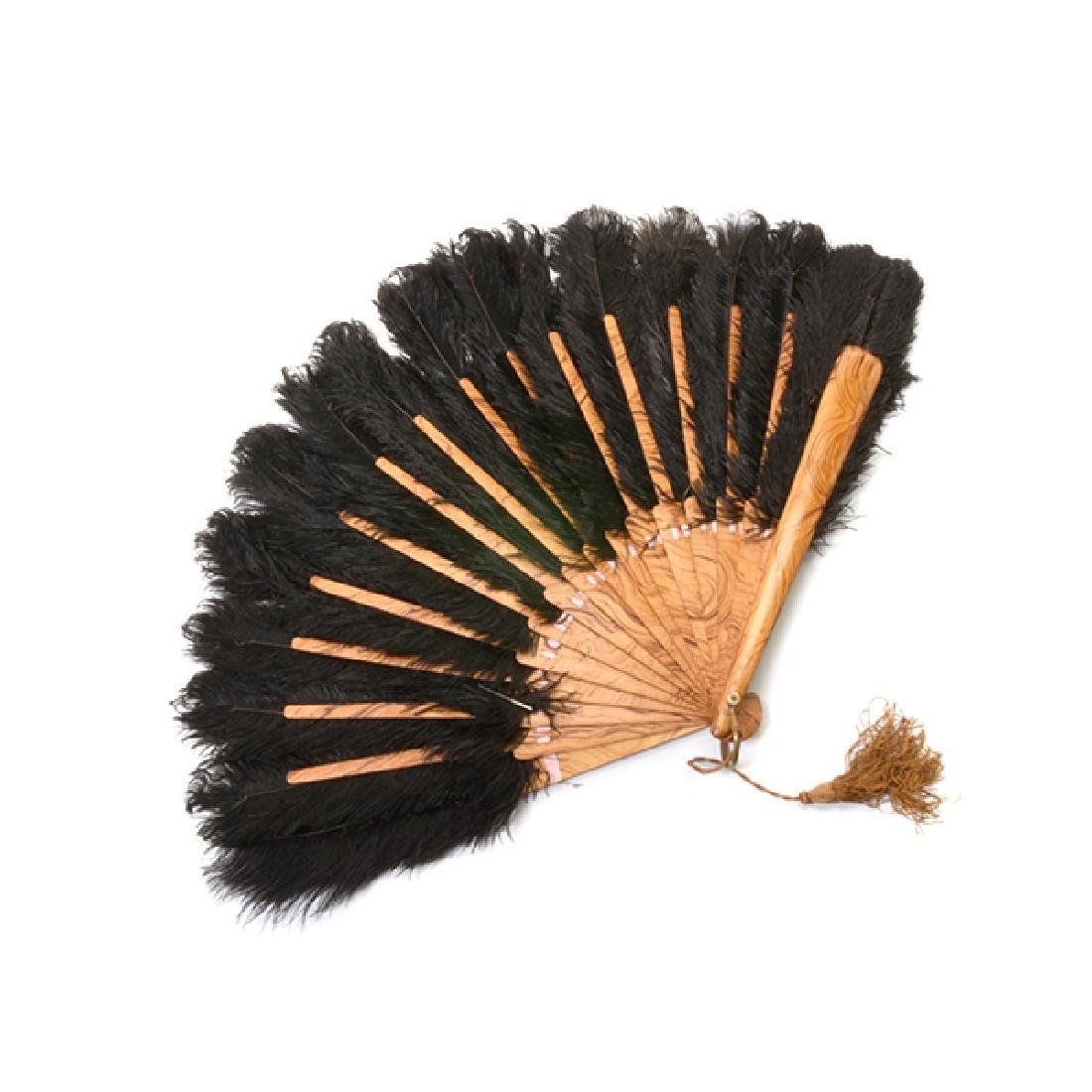 Collection of Ladies' Fans and Two Combs - 2