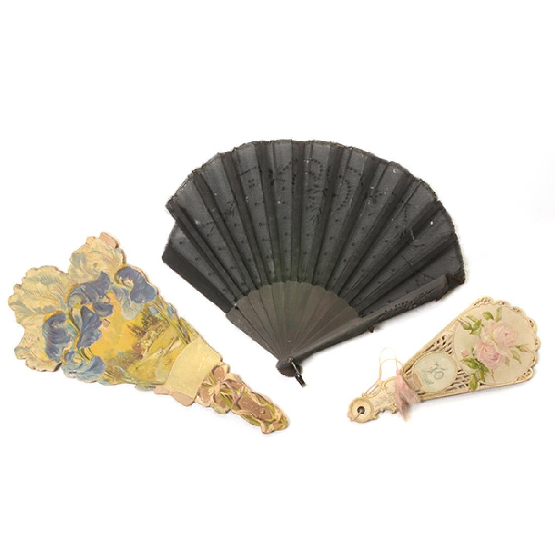 Collection of Ladies' Fans and Two Combs - 4