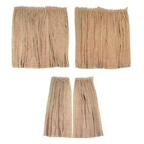 "Four Panels of Fortuny ""Maori"" Pattern Curtains"