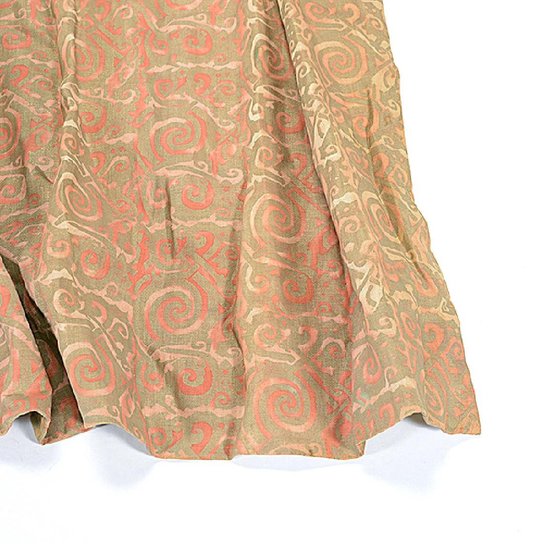 """Four Panels of Fortuny """"Maori"""" Pattern Curtains - 2"""